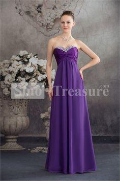 Light Purple Chiffon/Silk-like Satin A-Line Floor-Length Sleeveless Prom Dress -Wedding  ☺. ☺