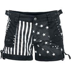 black and white stripes & stars short