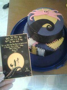Nightmare Before Christmas Baby Shower Cake