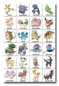 mémory à imprimer pokemon