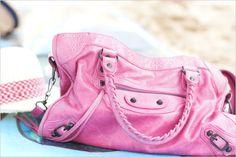 balenciaga bag - The Tres Chic Pink Balenciaga, Balenciaga City Bag, Pink Taco, Womens Purses, Luxury Bags, Tote Purse, Beautiful Bags, Purses And Bags, Cool Outfits