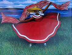 """Scarlet """"Day Spring"""" by Jonathan Green [Gardens Corner, Beaufort County, SC Native] African American Artist, Native American Art, American Artists, African Art, Jonathan Green, Afro, Green Paintings, Black Artists, Green Art"""