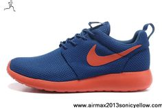 Latest Listing Discount Dark Royal Blue Team Orange Volt Mens 511881-483 Nike Roshe Run Casual shoes Shop