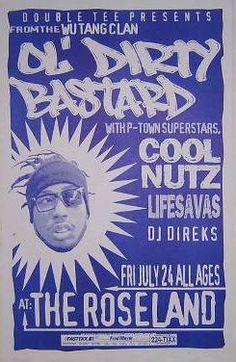 Ol' Dirty Bastard Wu-Tang Clan rap Hip Hop Concert Poster