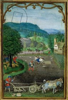 October Book of Hours Illumination by Flemish artist Simon Bening c. 1540