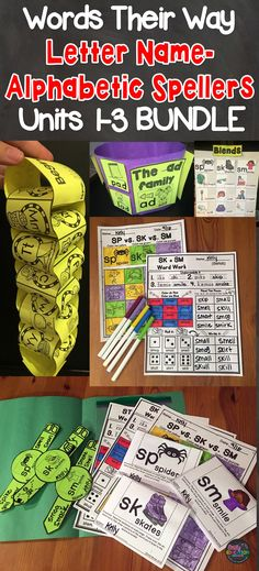 Words Their Way Word Sorts for Letter Name - Alphabetic Spellers. Packed full of activities to engage your students. This teacher has figured out how to keep students engaged without you feeling overwhelmed!