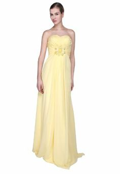 *Maillsa Chiffon Strapless Bridesmaid Dress Prom Dress MS13B0018 (US 6, Yellow) Maillsa,http://www.amazon.com/dp/B00EO2N1EW/ref=cm_sw_r_pi_dp_xULwsb16T2E9TEV8