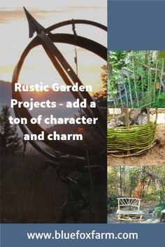Develop your own rustic look... Rustic Gardens, Country Crafts, Garden Theme, Natural Materials, Garden Projects, Crafting, Outdoor Structures, Creative, Nature