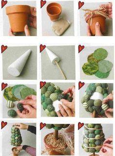 14 easy and fun ideas for handmade Christmas trees