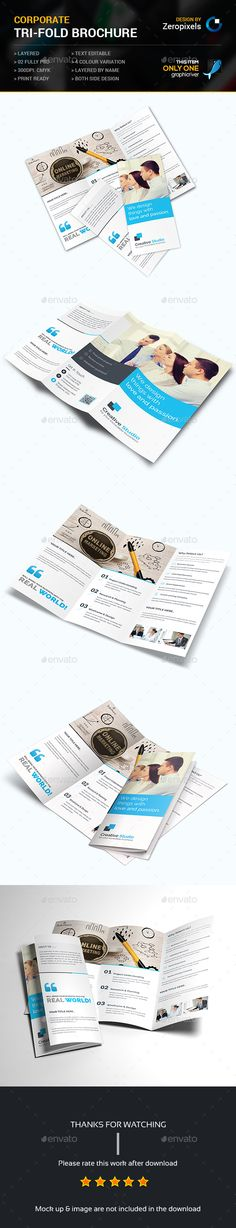 Business Trifold Brochure Template PSD. Download here: http://graphicriver.net/item/business-trifold-brochure/15222795?ref=ksioks
