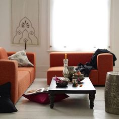 Superior #orange Couch   I Like How The Sections Are Separated.