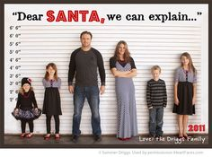 A bunch of great ideas for fun Christmas Cards! Love this cute family photo idea from Summer Driggs.