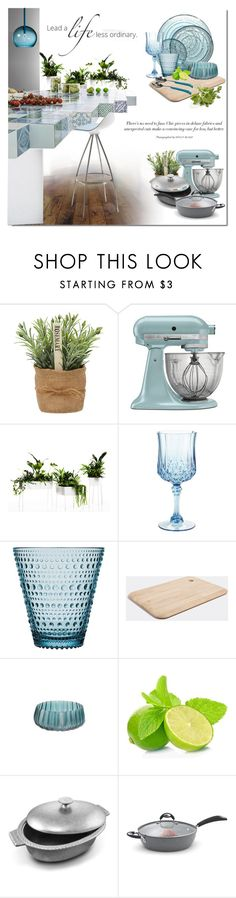 """""""Verde in the Kitchen"""" by ollie-and-me ❤ liked on Polyvore featuring interior, interiors, interior design, home, home decor, interior decorating, KitchenAid, Pier 1 Imports, Skandium and Tom Dixon"""