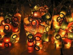 lanternes de papier de pliage pour Noël