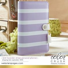 Color Crush Personal Planner Kit Lavender Stripe by myrubberstamp