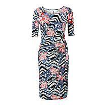 Miss Etam Regulier jurk Zwart/ecru/roze