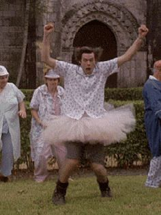Dance #gifs #crazy Jim Carrey Ace Ventura #lol..............so ready for halloween!!