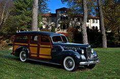 1940 Packard Cantrell Woody Station Wagon Photograph by Tim McCullough