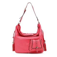 #Top Fashion Red Leather Hobo Bag RL093