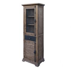The Chatelaine Display Cabinet w/ 2 doors and 1 drawer from LH Imports is a unique home decor item. LH Imports Site carries a variety of Chatelaine items. Unique Home Decor, Home Decor Items, Wood Display, Traditional Furniture, Tall Cabinet Storage, Solid Wood, Drawers, Doors, Antiques