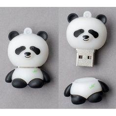"Amazon.com: Premium ""Panda"" USB Flash Memory Drive 8 GB: Computers & Accessories"