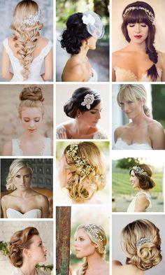 Cabelos ou penteados presos para noivas
