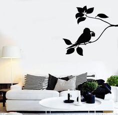 Wall Stickers Vinyl Decal Tree Branch Bird Gift For Bedroom Cool Decor (z1592)