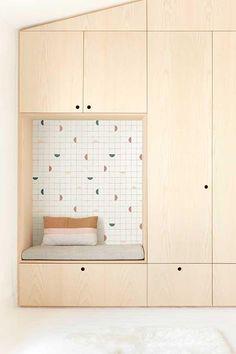 Childrens Bedroom Wallpaper, Kids Bedroom, Plywood Storage, Plywood Interior, Kids Room Design, Bedroom Storage, Interior Design Inspiration, Kids Furniture, Interior Architecture