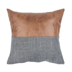 Add a stylish touch to the man cave, home office, or any modern interior with the Parson Throw Pillow. The smart styling of this urbane accent accessory is accomplished with faux leather paired with a. Leather Throw Pillows, Brown Pillows, Leather Pillow, Blue Pillows, Accent Pillows, Fall Pillows, Decor Pillows, Grey And Brown Living Room, Beige Living Rooms