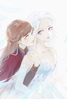I think Anna and Elsa are beautiful sisters Disney Pixar, Arte Disney, Disney Memes, Disney And Dreamworks, Disney Cartoons, Disney Frozen, Disney Crossovers, Frozen Pictures, Disney Pictures