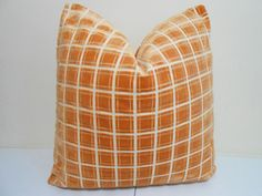 Salmon+/+Orange+Velvet+Pillow+Cover+Robert+Allen++by+ZourraDesigns,+$45.00