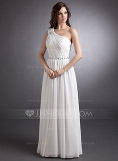 Evening Dresses - $134.99 - A-Line/Princess One-Shoulder Floor-Length Chiffon Evening Dress With Ruffle Beading (008006411) http://jjshouse.com/A-Line-Princess-One-Shoulder-Floor-Length-Chiffon-Evening-Dress-With-Ruffle-Beading-008006411-g6411