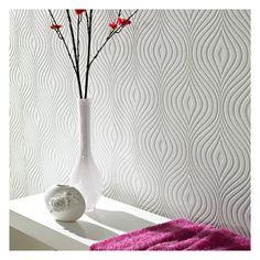 "Reviews for Paintable Curvy 33' x 20"" Geometric 3D Embossed Wallpaper | Wayfair"