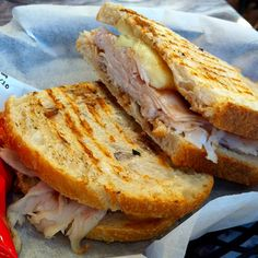 When you're in the mood for something quick and easy, pull out your panini maker and cook up a warm and toasty roasted turkey, apple, and brie sandwich. See our ideas on how else to use fruit in sandwiches. Source: Flickr User Elizabeth_K