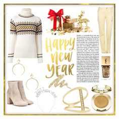 """""""Happy New year"""" by sirattkaur ❤ liked on Polyvore featuring Gianvito Rossi, &Daughter, Gloria Vanderbilt, Luv Aj, Milani, Yves Saint Laurent, Sydney Evan and Urban Decay"""