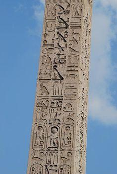 Obelisco en la Plaza de la Concordia en París