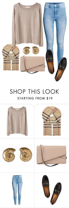 """""""Untitled #9044"""" by beatrizibelo ❤ liked on Polyvore featuring Vanessa Bruno, Burberry, Alkemie, Valextra, H&M and Gucci"""