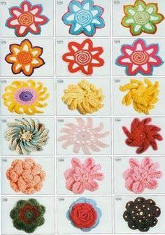 Esquemas de flores de ganchillo de tejer en distintas oportunidades como asi lo necesites en tus proyectos pendientes