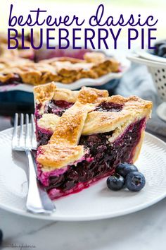 This Classic Blueberry Pie is the perfect summer dessert recipe made with an all-butter crust and fresh juicy blueberries. It's a simple pie recipe that's easy enough for anyone to make - even beginners! Be sure to follow my pro tips below for the perfect old fashioned blueberry pie! Recipe from thebusybaker.ca! #pie #blueberrypie #homemade #fromscratch #blueberries #fruitpie #summer #summerdessert Summer Dessert Recipes, Easy No Bake Desserts, Desert Recipes, Delicious Desserts, Yummy Food, Dessert Ideas, Cake Ideas, Easy Pie Recipes, Tart Recipes