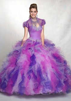 Find More Quinceanera Dresses Information about 2016 Colorful Sweetheart Dress Debutante Girls Ball Gown Ruffles Beaded Rainbow Quinceanera Dresses with Jacket Vestidos LD315,High Quality dresses junior,China dresses made in china Suppliers, Cheap dress corsage from Viman's Fashion on Aliexpress.com