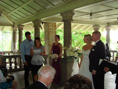 Wedding Ceremony taking place at the Rockcliffe Park Pavilio located in Ottawa Ontario
