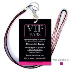 Pink VIP Party Quinceanera Invitations Check available dates for your next event…