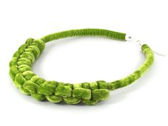 Knot necklace  lime green  summer necklace  big by DisByBergdis, €60.00