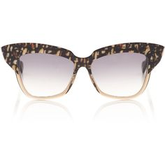 9c2405470a Wunderkind Brown Tweed Cat-Eye Sunglasses ( 370) ❤ liked on Polyvore  featuring accessories