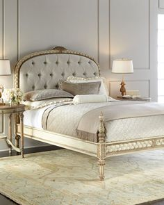Shop Beatrice Tufted Queen Bed from John-Richard Collection at Horchow, where you'll find new lower shipping on hundreds of home furnishings and gifts. Home Bedroom, Bedroom Furniture, Furniture Design, Bedroom Decor, Bedroom Ideas, Classic Furniture, Queen Beds, Queen Bedding, Baby Room Decor