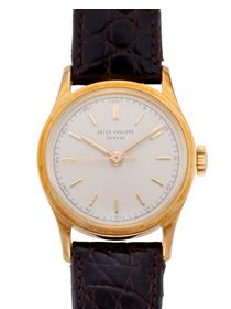 PATEK PHILIPPE, YELLOW GOLD, CALATRAVA, REF 2555 #christieswatches #patekphilippe