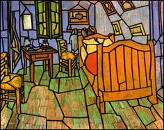 Van Goghs paintings as stained glass.
