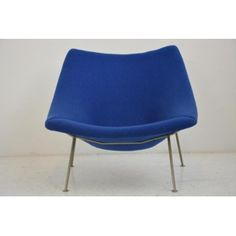 "Artifort ""Oyster"" armchair in metal and fabric, Pierre PAULIN - 1960s"