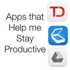 These are a few of my favorite apps to help me stay productive.