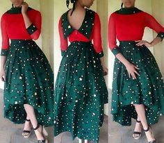 Africa print high low skirt african dress by CoCoCremeCouturier